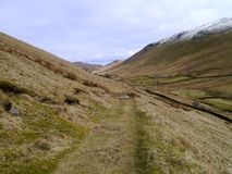 Grassy path in the Boredale valley Stock Photography