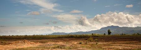 Grassy Plains - Chin State Area, Myanmar Stock Photo