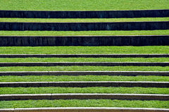 Grassy seating in outdoor amphitheater Royalty Free Stock Photography