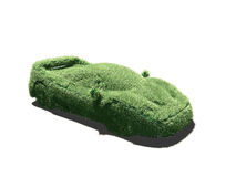 Grassy sport car. This is a very grassy sport car ! A picture to illustrate the ecological clean transportation concept royalty free illustration