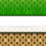 Grassy stripe with easter egg pattern  Stock Photo