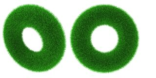 Grassy torus object Royalty Free Stock Photography