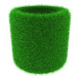 Grassy tube object Royalty Free Stock Photography