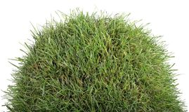 Grassy Tumulus Hill. Small Grass Turf Hillock Isolated on White Background Royalty Free Stock Photo