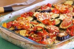 Gratäng med grönsaker Arkivbild