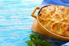 Gratén de la patata con queso Imagen de archivo