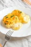 Gratén de la patata con queso Imagen de archivo libre de regalías