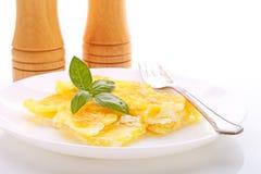 Gratén de la patata con queso Fotos de archivo