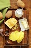 Gratén francés tradicional de la patata con crema Fotos de archivo libres de regalías
