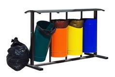 Gratów zbiorniki dla oddzielnej kolekci odpady Obraz Royalty Free