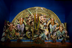 A grat Bengali Utsav - Durga Pooja. Every year the idols of Durga Mata is being established during Navratri - Durgotsab at Kolkata where you will find different Stock Photography