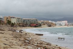 Grat na Medano plaży po huraganu Obrazy Royalty Free