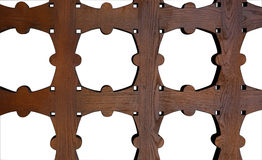 Grata di legno Immagini Stock