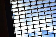 Grate. A bridge grate on a sunny day Royalty Free Stock Photos