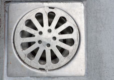 Grate drain Royalty Free Stock Images