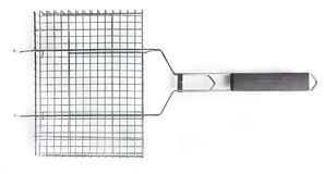 Grate for grilling with handle Royalty Free Stock Photography