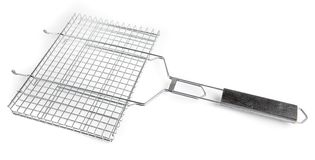 Grate for grilling with handle Stock Photos