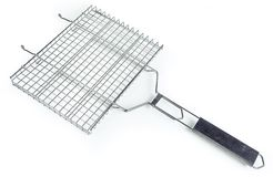 Grate for grilling with handle Royalty Free Stock Images