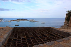Grate over ibiza Stock Image
