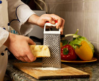 Grate Parmesan Grated Stock Images