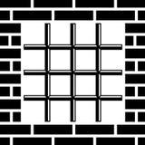 Grate prison window black symbol Royalty Free Stock Photo