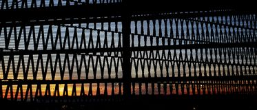 Grate Sunset stock images