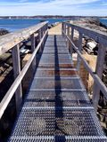 Grate walkway royalty free stock images