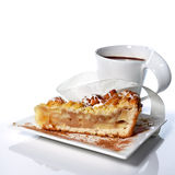 Grated Apple Pie and coffee Royalty Free Stock Photo