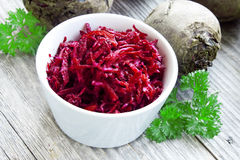Grated beet Stock Image