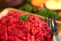 Grated Beetroot, Carrot and Apple Salad Royalty Free Stock Images
