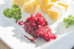 Grated beetroot Royalty Free Stock Image