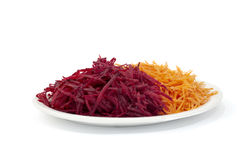 Grated Beets And Carrots Royalty Free Stock Image