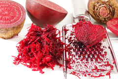Grated beets Stock Photo