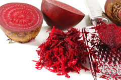 Grated beets Royalty Free Stock Images
