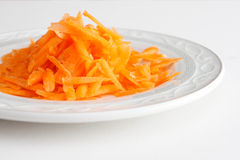 Grated carrot Stock Image