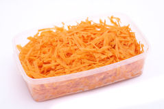Grated carrot royalty free stock photo