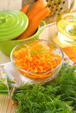 Grated carrot Royalty Free Stock Photography