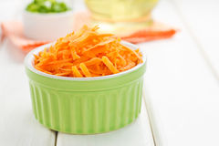 Grated carrot Stock Photography