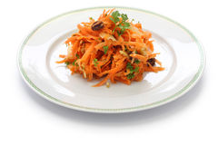 Grated carrot salad and grater Royalty Free Stock Photo