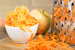 Grated carrot. Royalty Free Stock Image
