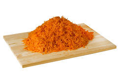 Grated carrot sticks Royalty Free Stock Images