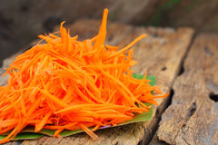Grated carrot Stock Photos