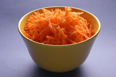 Grated carrots. Royalty Free Stock Image