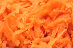 Grated carrots. Close up, macro stock images
