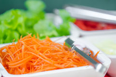 Grated carrots Royalty Free Stock Images