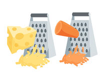 Grated carrots and cheese Royalty Free Stock Photos