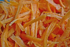 Grated Carrots Stock Image