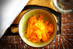 Grated carrots Stock Photos