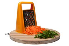 Grated carrots and parsley Royalty Free Stock Image