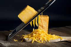Grated Cheddar Cheese 2 Royalty Free Stock Image